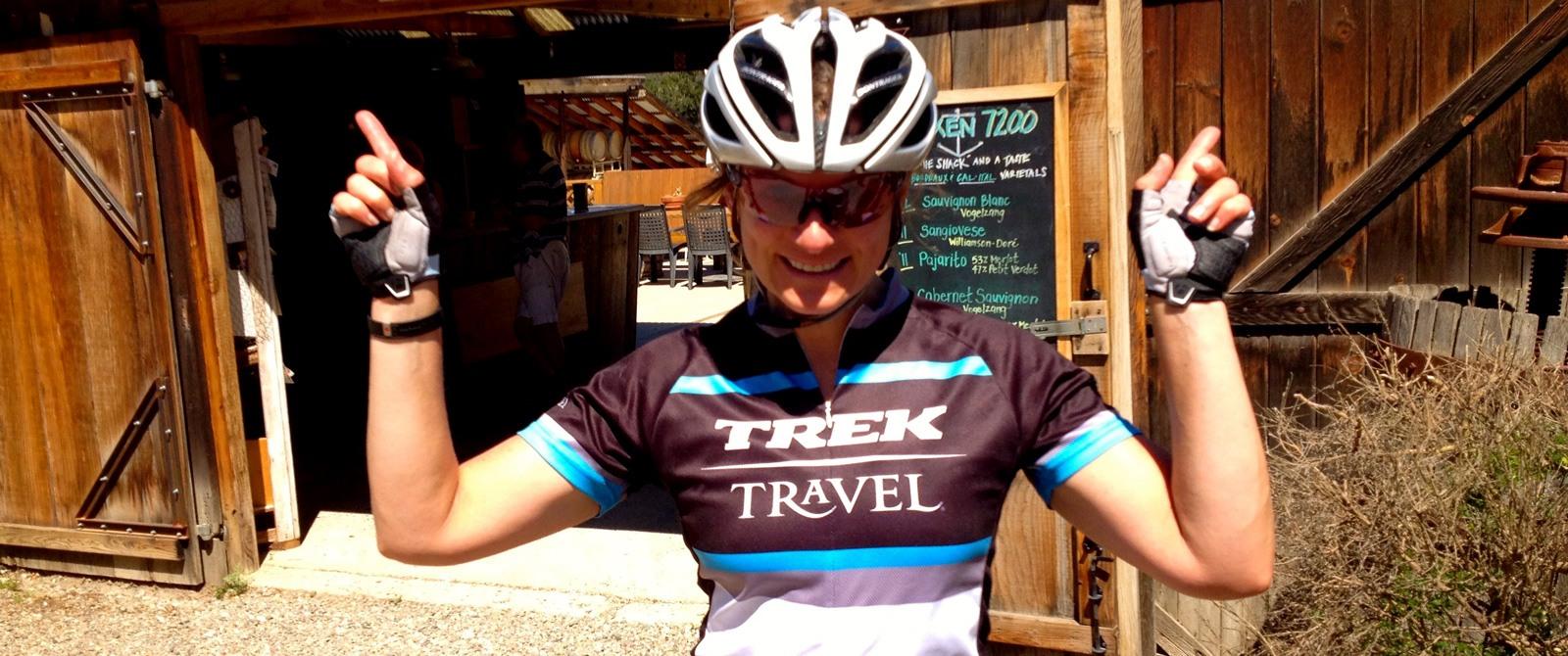 Trek Travel bike tour guide Amy Davison