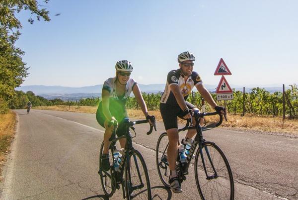Ride along vineyards on a Tuscany bike tour