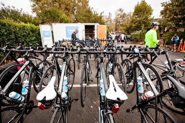 Prepping the Trek Travel bikes