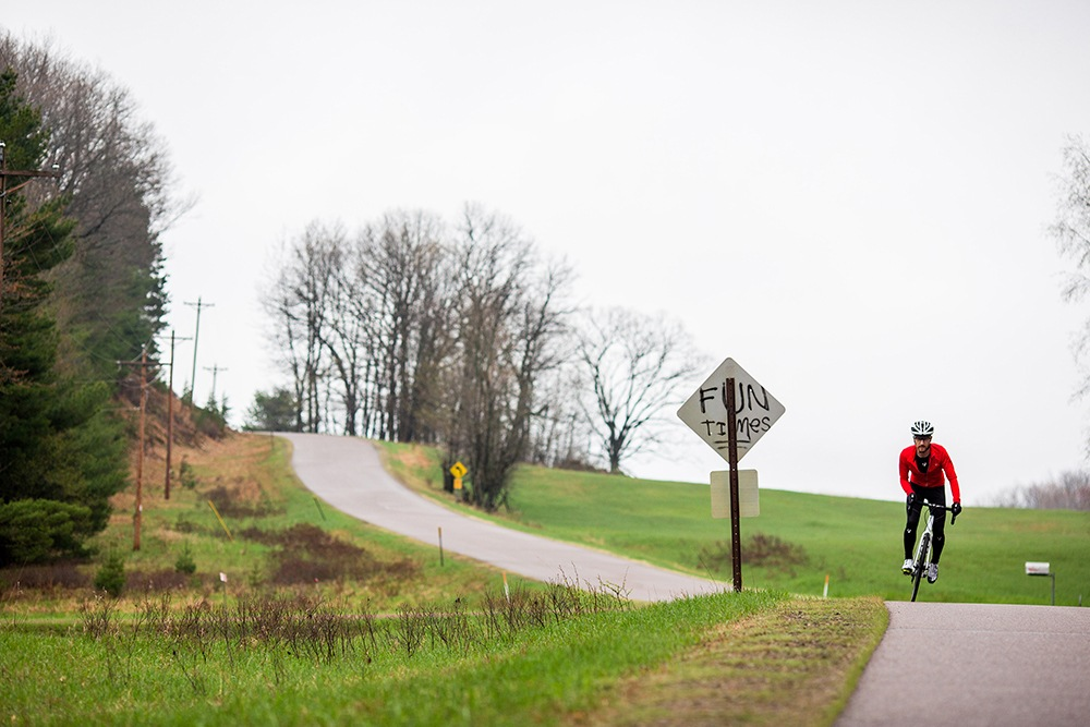 Cycling in rural wisconsin