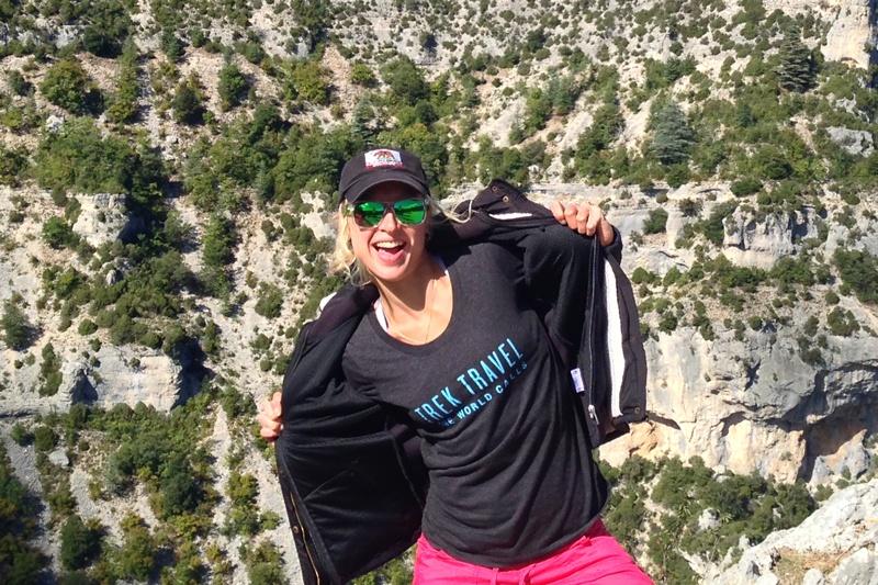 Celine Welker, Trek Travel bike tour guide