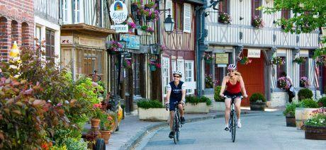 Ride through quaint villages in Normandy