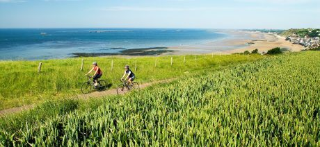 Ride along the coast of Normandy