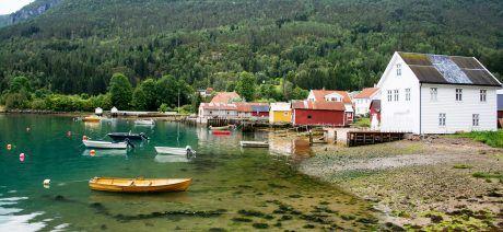 Solvorn at the Lustrafjorden, Sogn og Fjordane, Norway