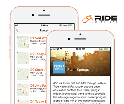 Use Ride with GPS on Trek Travel bike tours and cycling vacations