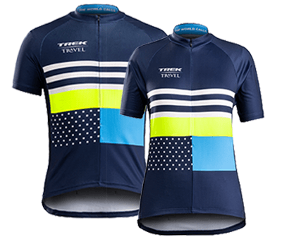 Enjoy your complimentary guest jerseys on all Classic Trek Travel bike tours