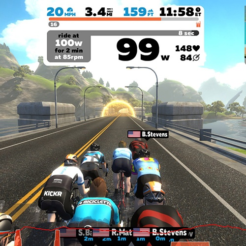 Ride with Zwift to train for your next cycling vacation of a