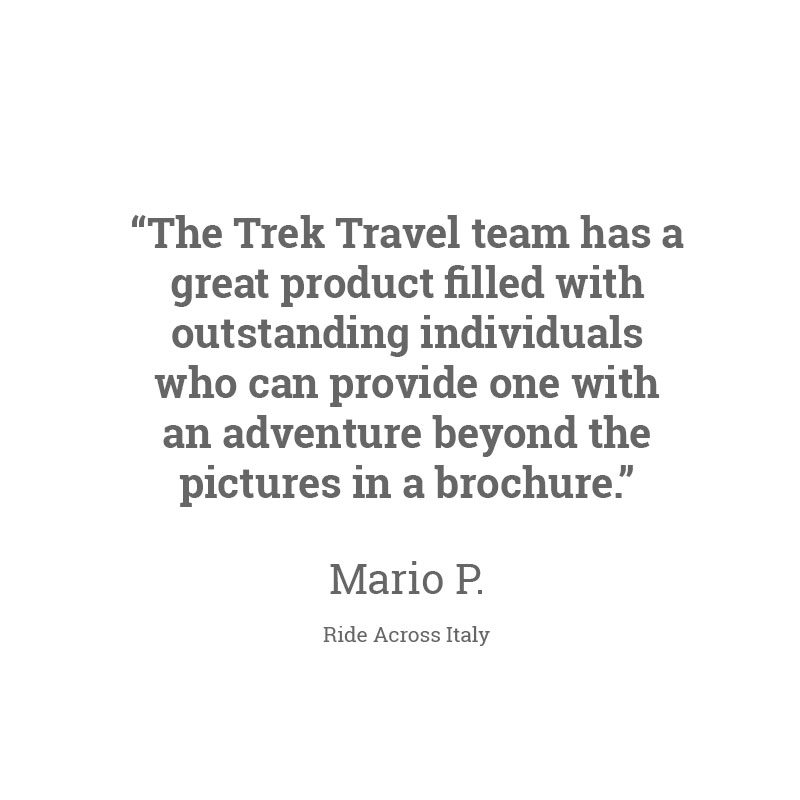 Hear what others are saying about Trek Travel bike tours