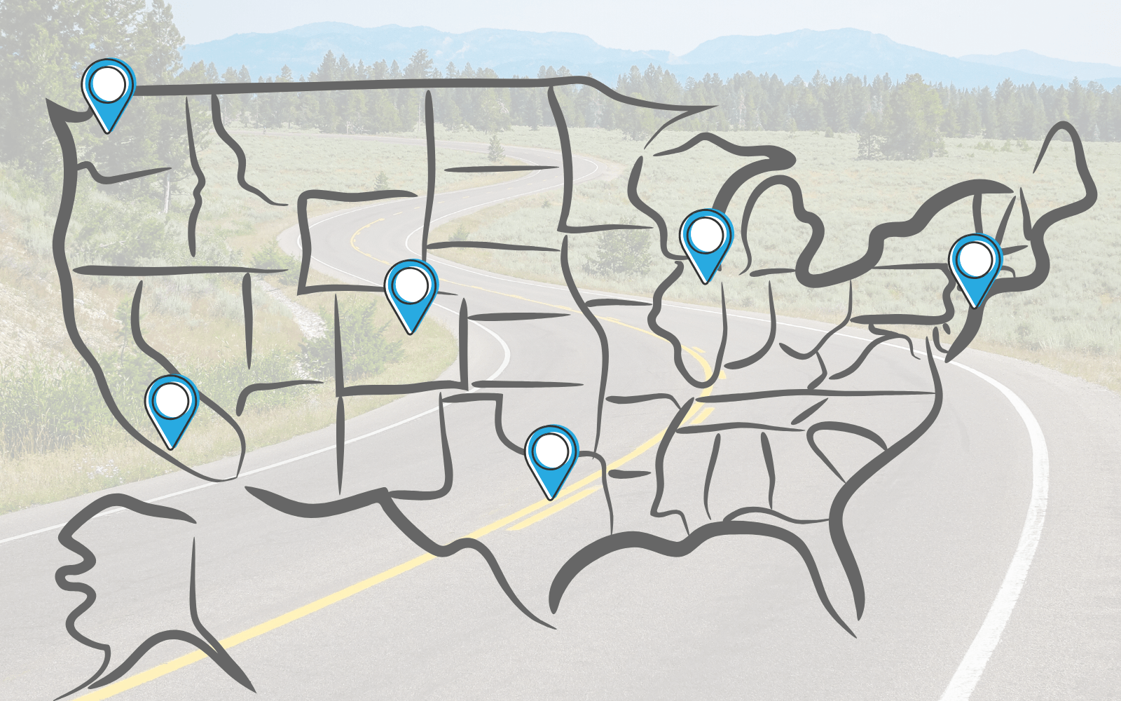Driving trips from major US cities